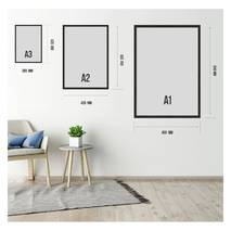 """Постер """"Цветок хризантема"""" без стекла 29.7  x 42 см в белой рамке"""