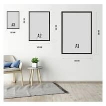 """Постер """"Ночное небо"""" с антибликовым стеклом  42 x 59.4 см в чёрной рамке"""