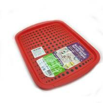 Поднос антискользящий  красный Ucsan Plastik  37 X 28 X 2,5 см  М-262 (2-2)