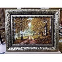 """Картина із бурштину """"Лісова стежина"""" 30х40 см"""