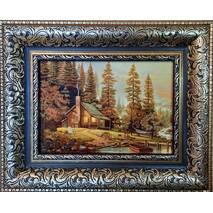 "Картина из янтаря ""Хатка"" 15х20 см"