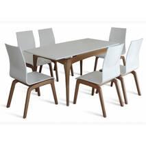Комплект обідній стіл + стільці NAVI бук білий, купити в Луцьку
