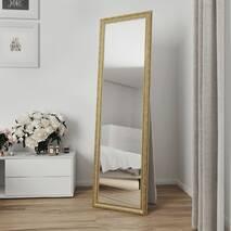 Зеркало в полный рост напольное 170х50 Золото Black Mirror в комнату прихожая спальню коридор