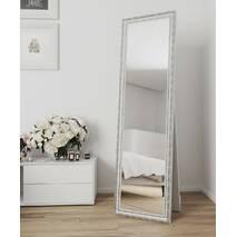 Напольное зеркало в полный рост 170х60 Белый винтаж Black Mirror в комнату прихожая спальню коридор