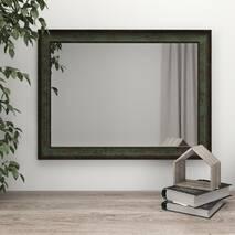 Зеркало на стену в багетовой раме 80х60 Темно-зеленое Black Mirror в прихожую коридор гостиную спальню