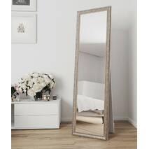 Зеркало в подлоге в полный рост 170х60 Беж с патиной серебра Black Mirror для комнаты прихожей спальни