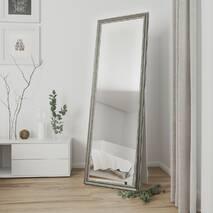 Зеркало в полный рост на пол 170х60 Серебро никель Black Mirror для дома и магазина