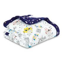 Одеяло Эмоциональные Совушки Dormeo Темно-фиолетовый  140x200 см