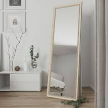 Зеркало в подлоге ростовое 170х60 в светлой раме Black Mirror в раме для дома в магазин одежды