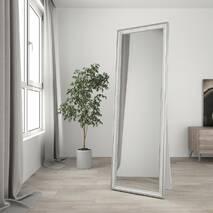 Дзеркало в повний зріст підлогове 170х60 Білий вінтаж Black Mirror в передпокій спальню коридор