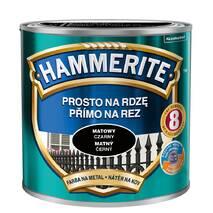 Фарба для металлу Hammerite матова чорна 0,7л.