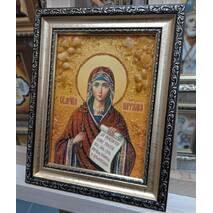 "Именная икона из янтаря ""Святая Наталия"" 15х20 без стекла"