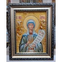 """Именная икона из янтаря """"Святая Дария"""" 15 х 20 см без стекла"""