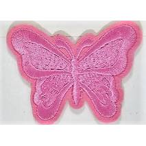 Термоаплікація клейова   Метелик (рожевий)