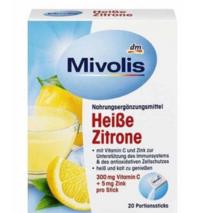 Heibgetrank Heibe Zitrone, Portionssticks 20 шт., 100 гр напиток для укрепления иммунитета с витаминами.