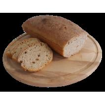 Бездрожжевий хеіб на закваске  Пшеничний   ( цельнозерновая мука и высшего сорта )