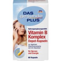 Vitamin B Komplex Depot, Kapseln 60 шт., 33 гр комплекс вітамінів грути В для зміцнення нервової системи.