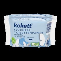 Вологий туалетний папір-серветки Kokett Sensitive 70 шт.
