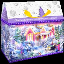 Картонная коробка для новогодних подарков и конфет