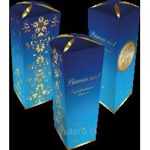 Праздничная упаковка-тубус 75х75х230 мм, синий