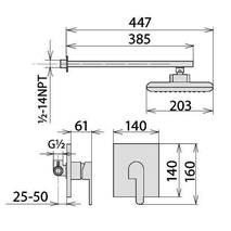 Смеситель для душа скрытого монтажа Welle Ernest 9Q0422C-AR34218D