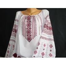 Жіноча сорочка вишита з довгим рукавом ручної роботи