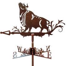 Флюгер на дах з биком