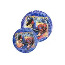 Одноразовий посуд для дитячого свята - тарілки Spider-man