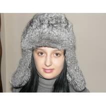 16. Меховая шапка ушанка (серая)