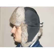 4. Чоловіча хутряна шапка з кролика (світло коричнева)