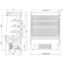 Регал (пристенная холодильная витрина) «Аризона»