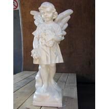 """Скульптура из белого бетона """"Ангел"""""""