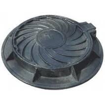 Люк каналізаційний чавунний тип Т (4 вуха 106 кг)