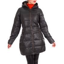 Куртка черная с коричневым осень-зима
