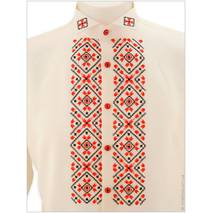 Вышитая шелковая сорочка под бабочку с орнаментом «Весенний»