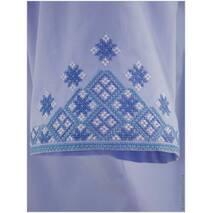 Летняя рубашка современного кроя со старорусской вышивкой