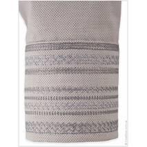 Серая современная сорочка с деликатным орнаментом