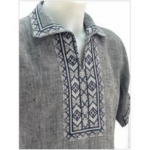Лляна вишиванка «під джинс» з закарпатською вишивкою