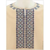 Летняя тениска с синей прикарпатской вышивкой