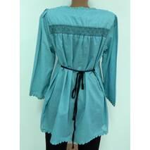 Блуза бирюзовая сток