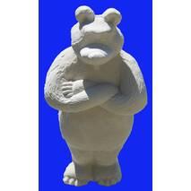 Игрушка из гипса Медведь