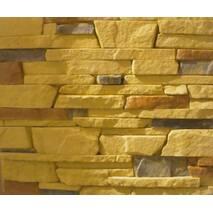 Облицовочный искусственный камень из гипса Аляска (светло-желтый)