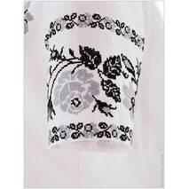Літнє плаття, розшите сірими трояндами