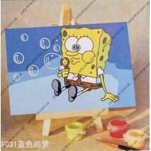 Мольбертики з акриловими фарбами Sponge Bob