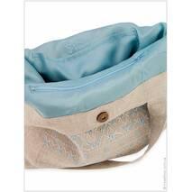 Льняная сумка с филигранной вышивкой