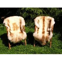 Овечья шкура - овечьи шкуры - шкура овцы (коричнево-кремового цвета)