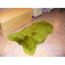 Овечья шкура зеленого цвета