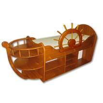 Кровать-корабль с матрасом (100% дерево)