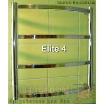 Компактный н/ж полотенцесушитель в ванную комнату Elite 4/450х500 мм. Плоские перемычки 20х10