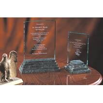 Скляні призи на кам'яній підставці арт. PG016